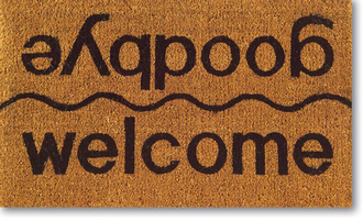 home accessory welcome goodbye doormat