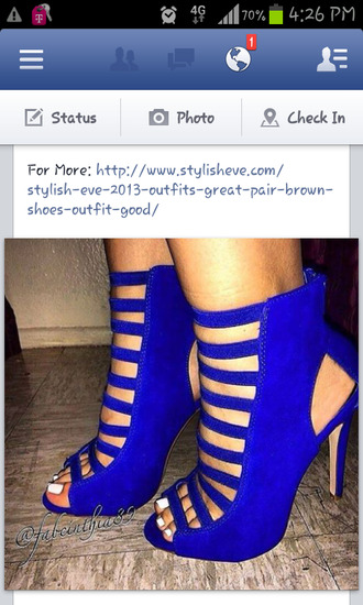 shoes blue blue high heels heels high heels strappy heels cute high heels heel sh
