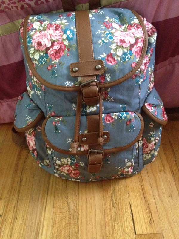 bag bookbag floral cute tumblr