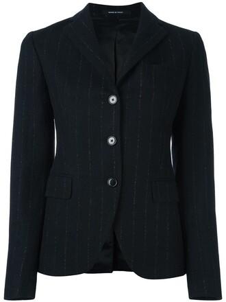 blazer women black wool jacket