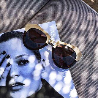 sunglasses maniere de voir st tropez cateye gold retro