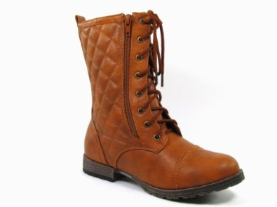 Amazon.com: Kiss & Tell Waneta-03 Quilted Military Lace up Boot: Shoes