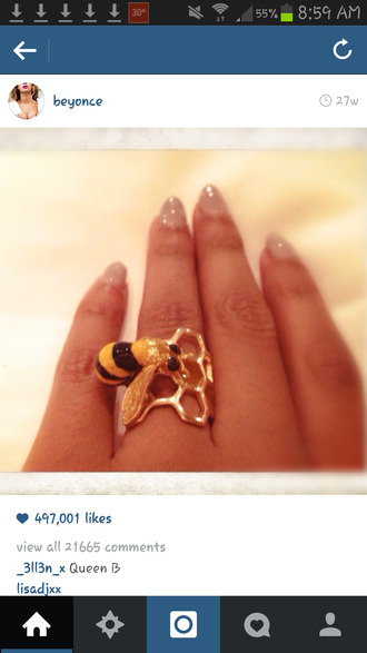 jewels bumble bee beyonce ring bee