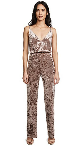 BB Dakota jumpsuit velvet rose