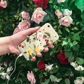 phone cover,yeah bunny,iphone case,cover,transparent,cherry,floral