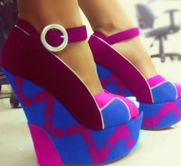 purple pink blue suede wedges purple pink blue mary jane wedges suede shoes mary-jane cute shoes cute shoes
