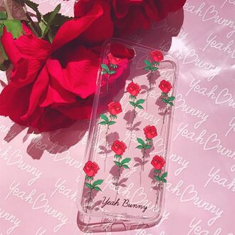 phone cover yeah bunny iphone rose flowers cute transparent