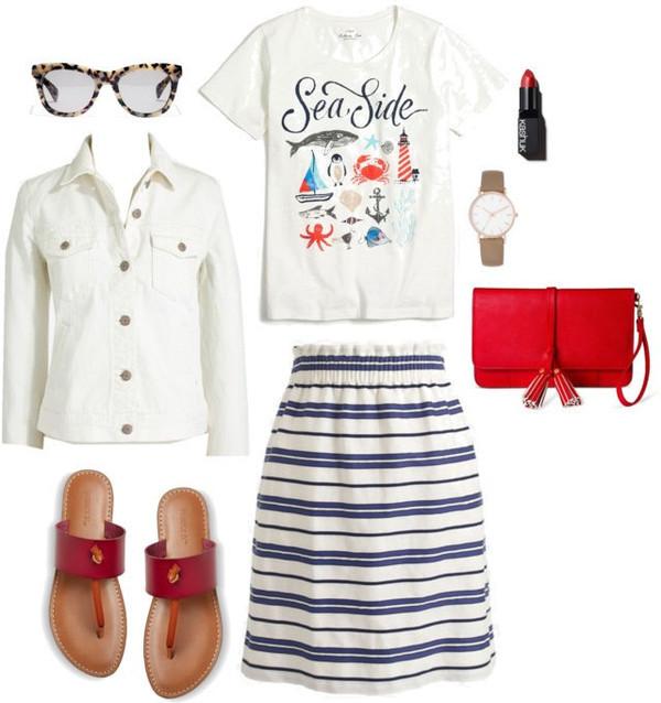 styleontarget blogger jacket sunglasses t-shirt make-up jewels bag skirt shoes
