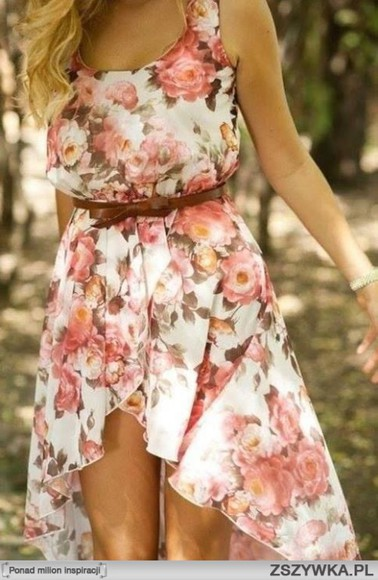 rose Belt delicate floaral dress