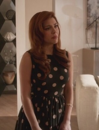 dress polka dots revenge louise ellis elena satine