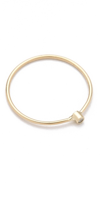 Jennifer Meyer Jewelry 18k Gold Thin Diamond Ring |SHOPBOP | Save up to 30% Use Code BIGEVENT14