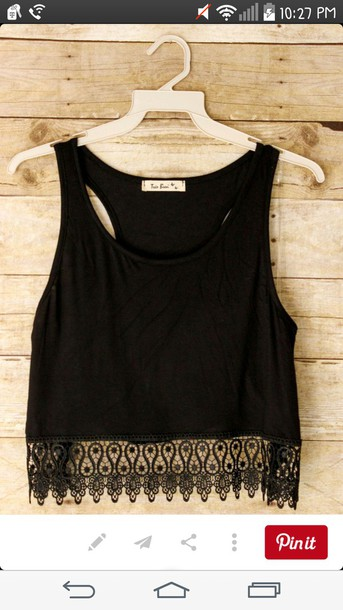 tank top lace top summer