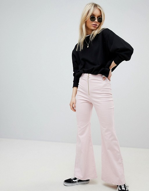 Nobody's Child Flared Trousers In Cord at asos.com