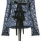 Erdem - mila blouse - women - silk/polyester - 10, blue, silk/polyester