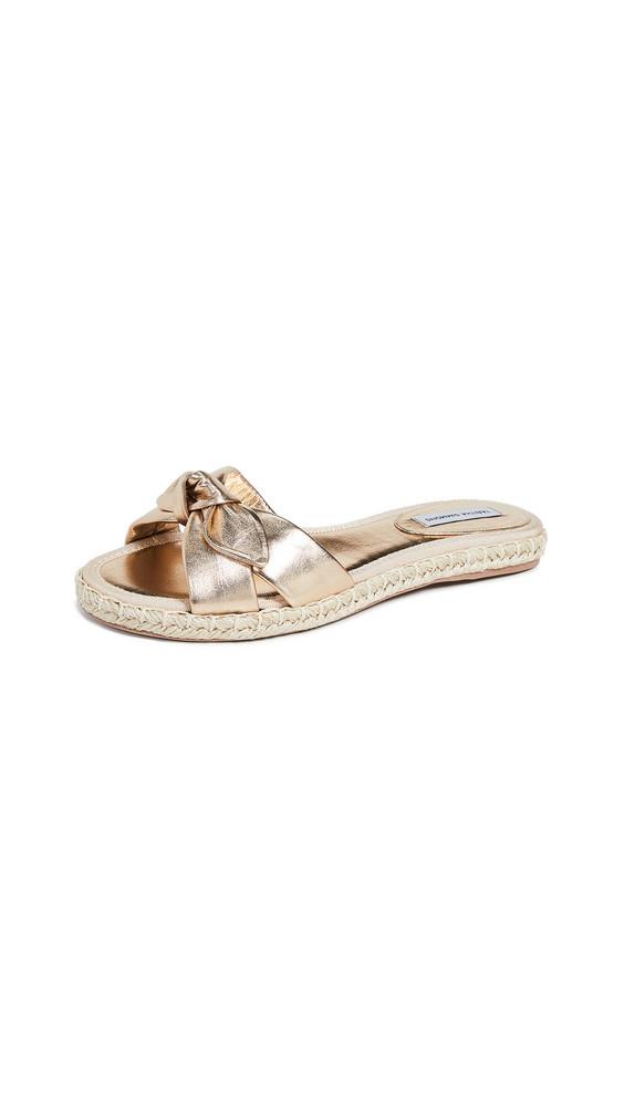 Tabitha Simmons Heli Slides in gold