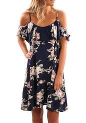 dress,short dress,floral,casual dress,summer dress,off the shoulder