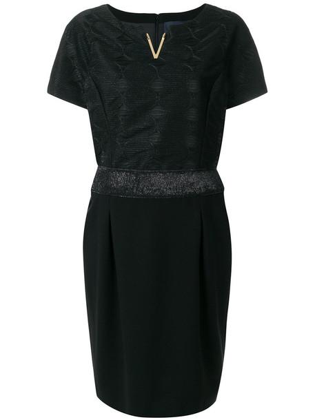 dress metallic women spandex black