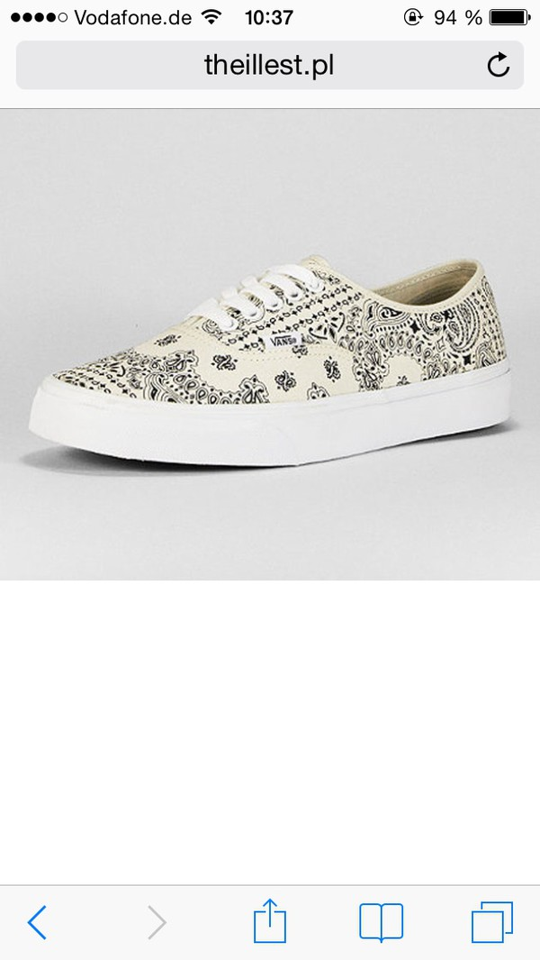 shoes white bandana vans vans of the wall printed vans