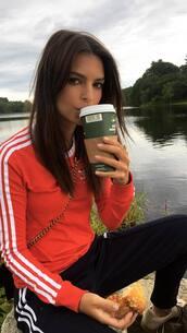sweater,adidas,sweatshirt,emily ratajkowski,model off-duty,instagram