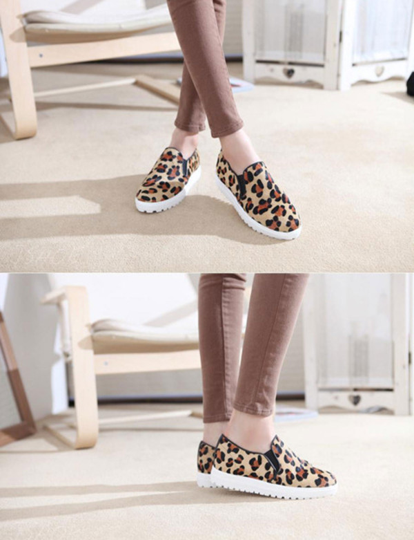 shoes leopard print platform shoes sneakers flats loafers fashion