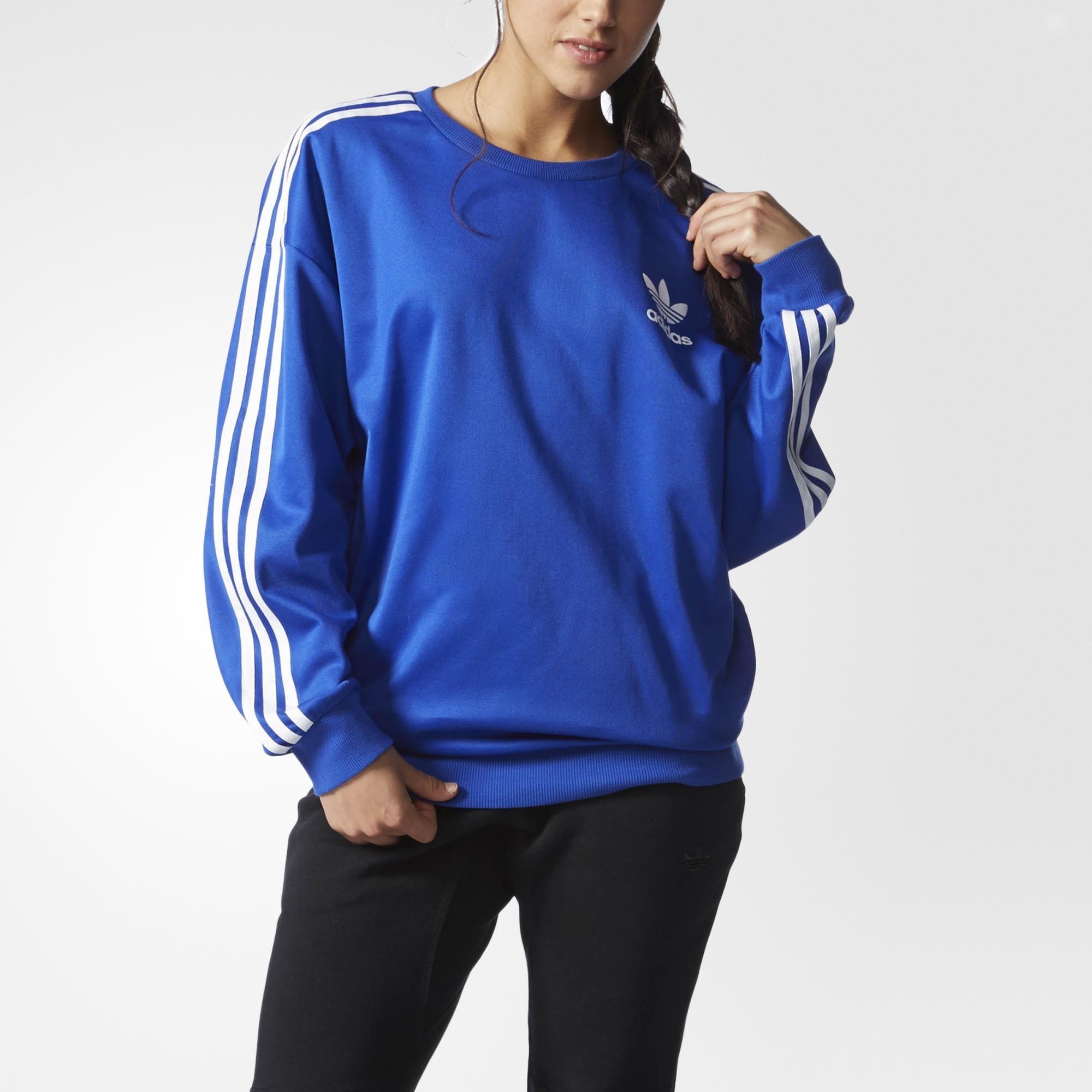 Adidas Sweatshirt Sweatshirt Blue Beckenbauer Adidas Blue Beckenbauer Uk Uk ag74q