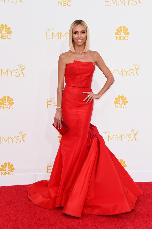 dress red dress emmys 2014 giuliana rancic  dress