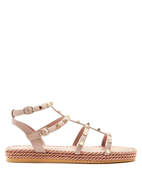 Valentino sandals leather sandals leather nude shoes
