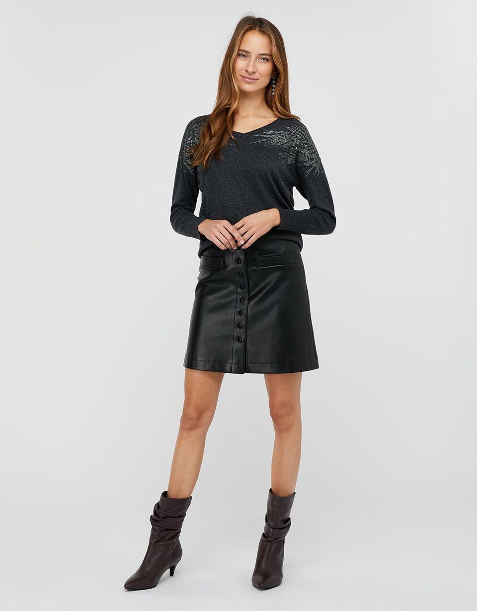 Melissa Mini Pu Skirt