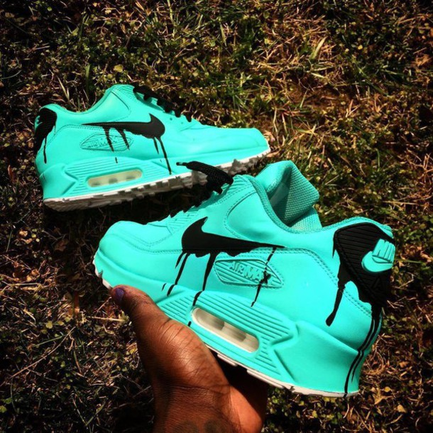 185827337274 ... reduced shoes nike air max 90 nike air nike nike shoes turquoise and  black turquoise low