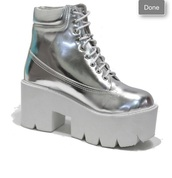 holographic,platform shoes,boots,chunky,cleated sole