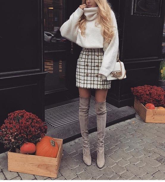 0ba1dea3f skirt, white, black, pleatedskirt pleated skirt, plaid, plaid skirt ...