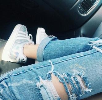 shoes white holographic adidas adidas superstars pants