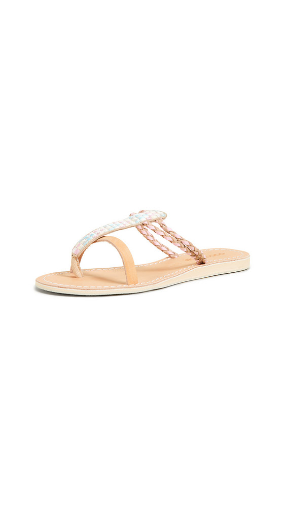 Cocobelle Cali Geometric Sandals in blush