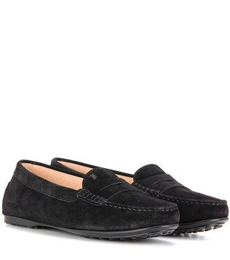 loafers suede black shoes