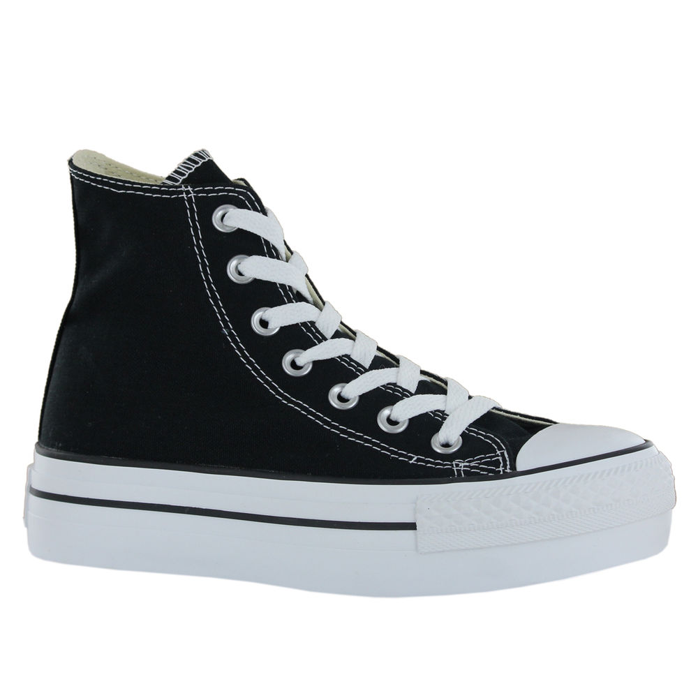 Converse ct platform black white womens trainers