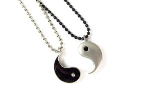Amazon.com: friendship pewter yin yang pendants on ball chain necklaces: jewelry