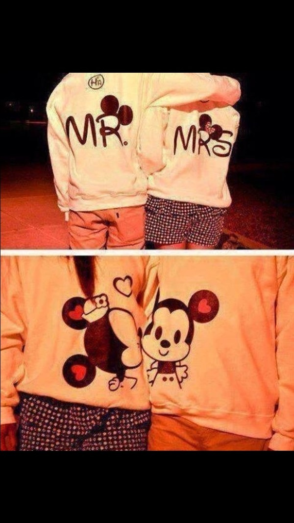 jacket minnie and mickey cute sweaters