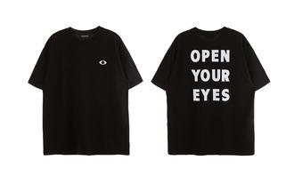 grunge open your eyes open your eyes black shirt goth dark eye