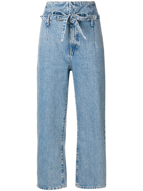 Current/Elliott jeans cropped jeans cropped women cotton blue