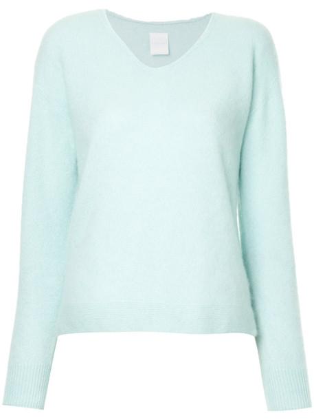 Cityshop jumper women blue wool sweater