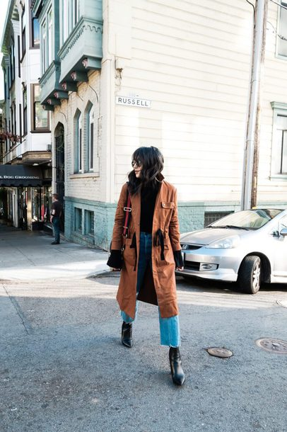 the fancy pants report blogger sweater jeans bag shoes fall outfits boots coat