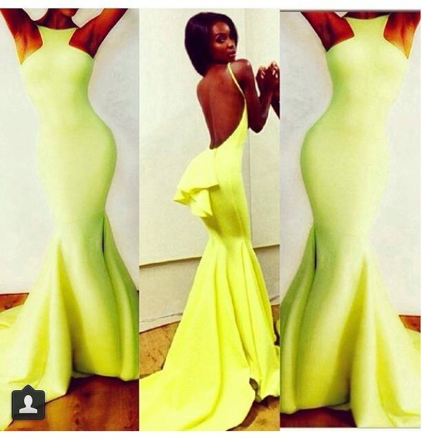 dress maxi dress sexy dress neon backless dress