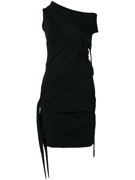 Rick Owens DRKSHDW dress draped dress women draped cotton black