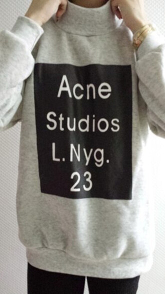 top acne studios acne sweater acne acnesweater sweater sweatshirt jumper cardigan shirt hoodie coat pants leggings outfit beauty fashion clothes blackfive streetwear streetstyle letters pullover