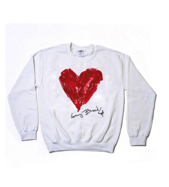 Luxury brand la painted heart sweatshirt · luxury brand la · online store powered by storenvy