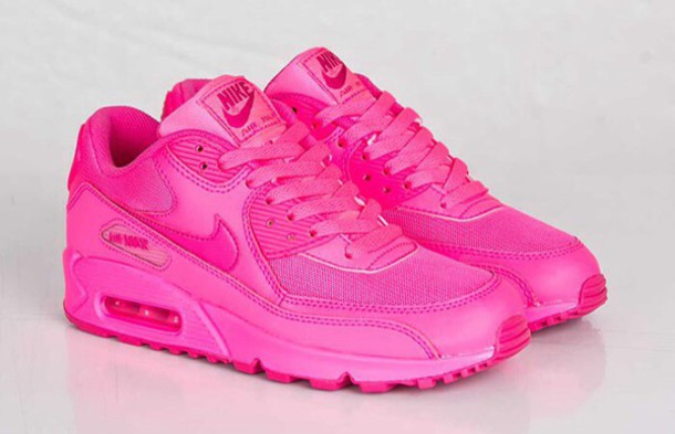 37de81fee4d shoes pink hot pink air max serin neon pink nike air max 90 nike running  shoes