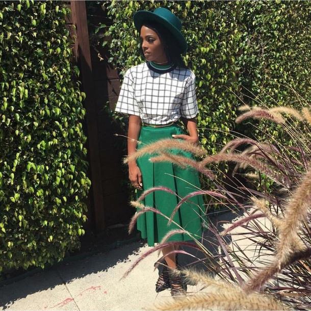 skirt dawn richard midi skirt green long skirt
