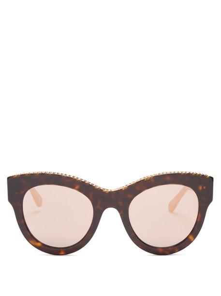 Stella McCartney embellished sunglasses brown