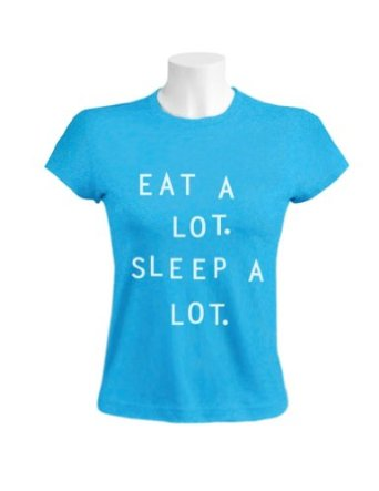 Amazon.com: EAT A LOT SLEEP A LOT Women T-Shirt: Clothing