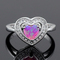 Haimis heart shape pink fire opal cz women claw inay fashion jewelry opal ring size 8 62p-in rings from jewelry & accessories on aliexpress.com | alibaba group